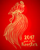 Tupp kinesiskt zodiaksymbol av det 2017 året Färgrik vektor Fotografering för Bildbyråer