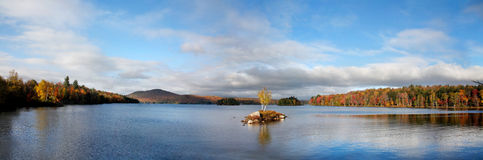 Tupper Lake In Autumn Stock Photos
