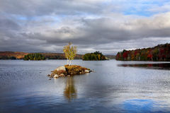 Tupper Lake In Autumn Royalty Free Stock Image