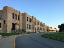 Tupper lake hight school Stock Images
