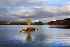Tupper See im Herbst Lizenzfreies Stockbild