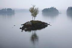 Tupper See im Regen Stockfotografie