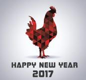 Tuppsymbol 2017 år i kinesisk kalender Royaltyfri Fotografi