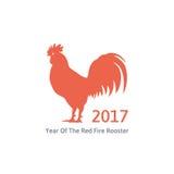 Tuppsymbol för röd brand av 2017 Royaltyfria Bilder