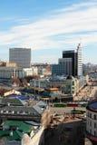 Tuqay广场、Bauman街、普希金和Petersburgskaya 喀山俄国 免版税库存照片