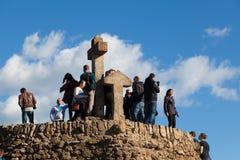 Turó de Les Tres Creus Viewpoint Over Barcelona City Royalty Free Stock Image