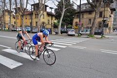 12ma edición del trofeo de la ciudad de Turín del triathlon Imagenes de archivo