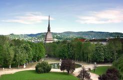 Turín de los jardines de Royal Palace Imagen de archivo