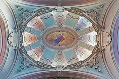 TURÍN, ITALIA - 16 DE MARZO DE 2017: El cupolla de los di Santa Maria di Piazza de Chiesa de la iglesia del arquitecto Bernardo A Imagen de archivo