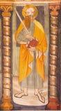 TURÍN, ITALIA - 14 DE MARZO DE 2017: El fresco de San Pablo el apóstol en la iglesia Chiesa di San Domingo y el delle Grazie de C Imagen de archivo libre de regalías