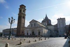 Turín la catedral metropolitana de San Giovanni Battista imagen de archivo libre de regalías