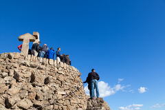 Turó de Les Tres Creus Viewpoint Over Barcelona City Royalty Free Stock Images