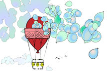 Tur för ballong för varm luft Fotografering för Bildbyråer