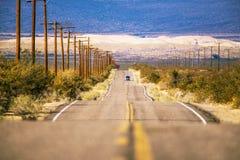Tur för väg för Kalifornien öken arkivbild
