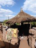 Tur för zambia för Afrika bykojor arkivfoton