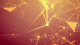 Tur till och med det abstrakta orange cyberspacerastret Royaltyfria Foton