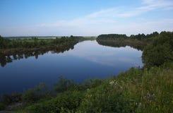 Tura River. Merkushino village. Sverdlovsk region. Stock Photo