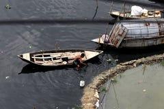 Turag-Flussverseuchung bei Tongi Lizenzfreies Stockfoto