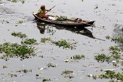 Turag-Flussverseuchung bei Tongi Lizenzfreie Stockfotografie