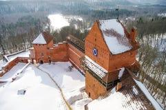 Turaida城堡是一座最近被重建的中世纪城堡在Tu 免版税库存图片