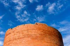 Turaida旅游胜地13世纪中世纪城堡塔  免版税库存照片