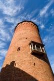 Turaida旅游胜地13世纪中世纪城堡塔  库存照片
