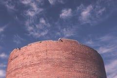 Turaida旅游胜地13世纪中世纪城堡塔  免版税库存图片