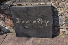 Turaida罗斯坟墓  免版税库存照片