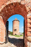 Fragment of medieval Turaida castle ruins in Latvia Royalty Free Stock Photos