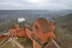 Turaida kasztel, Latvia zdjęcia stock