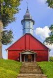 Turaida-Kirche Jahrhundert und im Gauja Fluss zurück lizenzfreies stockbild