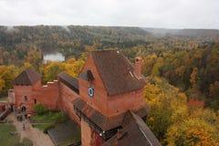 Turaida, Sigulda-kasteel, Letse republiek stock fotografie
