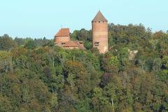 Turaida slott Arkivfoto