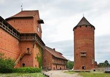 Turaida slott nära Sigulda latvia arkivfoto