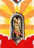 Turamichele skulptur på en kyrka i Augsburg Royaltyfri Foto