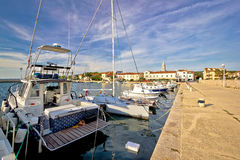 Turanj village in Dalmatia seafront view Stock Images