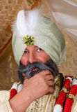 Turban. Close-up of a man wearing a traditional turban Royalty Free Stock Photos