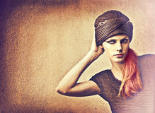 Turban sur la femme Image libre de droits