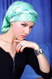 Turbante di arabo della donna Fotografia Stock