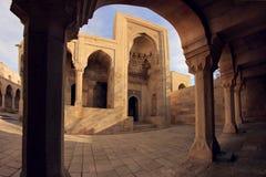 Turbe (陵墓) Shirvanshahs在巴库,阿塞拜疆 免版税库存照片