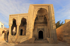 Turbe (陵墓) Shirvanshahs在巴库,阿塞拜疆 库存图片