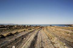 Turbidites в Barrika Стоковое Фото