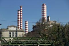 Turbigo, Μιλάνο, Λομβαρδία, Ιταλία 24 Μαρτίου 2019 Σταθμός παραγωγής ηλεκτρικού ρεύματος Turbigo, που βρίσκεται κατά μήκος του Na στοκ φωτογραφία με δικαίωμα ελεύθερης χρήσης