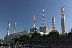 Turbigo, Μιλάνο, Λομβαρδία, Ιταλία 24 Μαρτίου 2019 Σταθμός παραγωγής ηλεκτρικού ρεύματος Turbigo, που βρίσκεται κατά μήκος του Na στοκ φωτογραφία