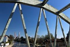 Turbigo Μιλάνο Λομβαρδία r Ενισχυμένη συγκεκριμένη γέφυρα στοκ φωτογραφίες