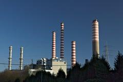 Turbigo, Милан, Ломбардия, Италия 24-ое марта 2019 Электростанция Turbigo, расположенная вдоль Naviglio большого стоковое фото rf