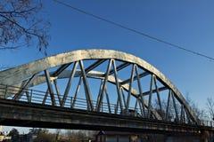 Turbigo milan lombardy Italy Ponte do concreto refor?ado Ponte sobre o Naviglio 40 quil?metros grandiosos de Mil?o imagem de stock