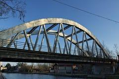 Turbigo. Milan. Lombardy. Italy. Reinforced concrete bridge stock photos