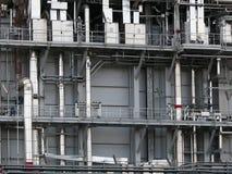 Turbigo Milano, Italien 06/10/ 2009 Industrianläggning på en makt royaltyfria bilder