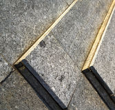 The turbigo street lombardy italy. In the turbigo street lombardy italy varese abstract pavement of a curch and marble stock photography